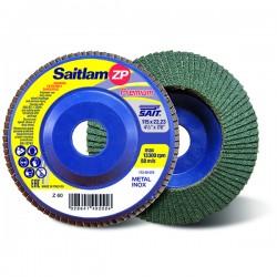 SAIT Abrasivi, Premium, Saitlam ZP Z, Disque abrasif à lamelles plat, pour Préconisations Métal