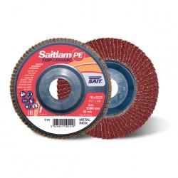 SAIT Abrasivi, TOP-Ceramic, Saitlam-PE, Disque abrasif à lamelles plat, pour Préconisations Métal