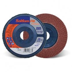 SAIT Abrasivi, SAITLAM-PN 3A, PREMIUM, Disque abrasif à lamelles plat, métaux