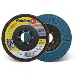SAIT Abrasivi, Premium, Saitlam-UK Z, Disque abrasif à lamelles conique, pour Préconisations Métal
