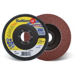 SAIT Abrasivi, Premium, Saitlam-UK 3A, Disque abrasif à lamelles conique, pour Préconisations Métal